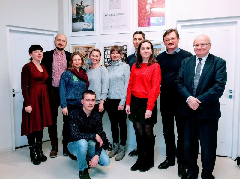 Delegation for the study trip in the Baltics for Investigative Journalists